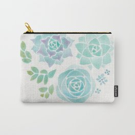 Watercolor Succulent Garden 3 Carry-All Pouch