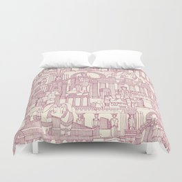 Ancient Greece cherry pearl Duvet Cover