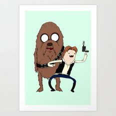 Space Adventure! Mans Best Friend Art Print