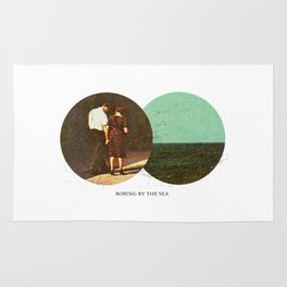 Boring by The Sea | Collage Rug