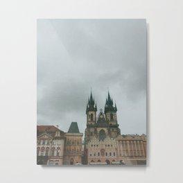 Gloom in Prague Metal Print