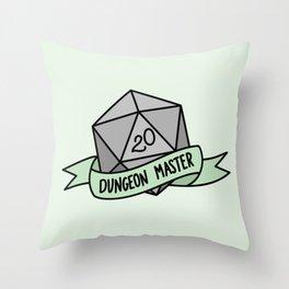 Dungeon Master D20 Throw Pillow