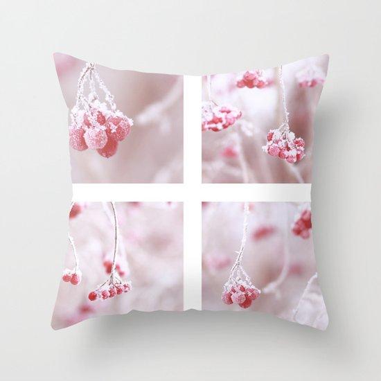 Red Berries Quadro Throw Pillow