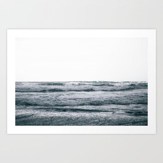 Waves V Art Print