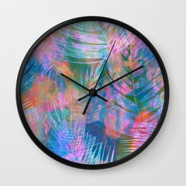 Waikiki Tropic {Aqua} Wall Clock