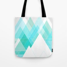Icy Grey Mountains Tote Bag