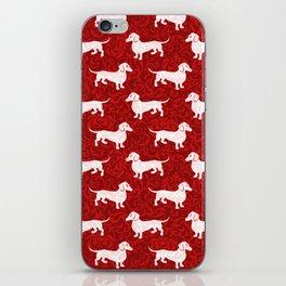 Merry Christmas Dachshunds iPhone Skin