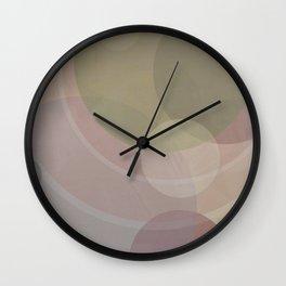 Circles Slate and Agate Wall Clock