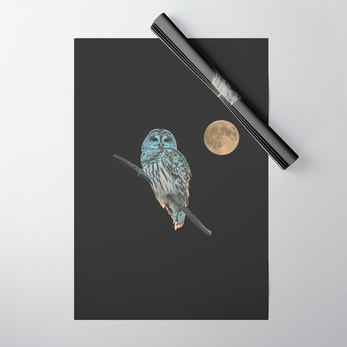 Owl, See the Moon (Barred Owl) Wrapping Paper