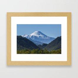 Summer mountain landscape of Kamchatka Peninsula Framed Art Print