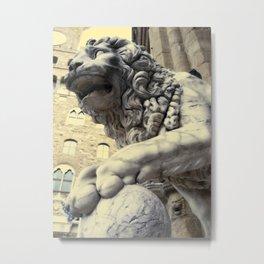 Lion Statue Metal Print