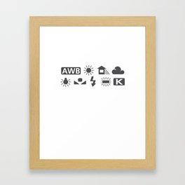 White Balance Framed Art Print