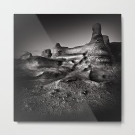 Moonscape, rock formations. Metal Print