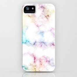 Rainbow Marble Pattern iPhone Case