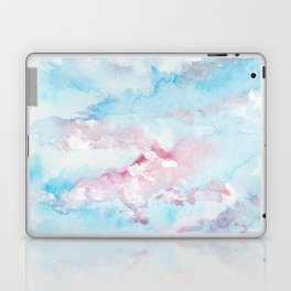 Pink and Blue Clouds . Sky Laptop & iPad Skin