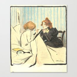 "Théophile Steinlen ""Two women in a dormitory"" Canvas Print"