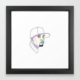 The Rapper-a-day Project | Day 50: Talib Kweli Framed Art Print