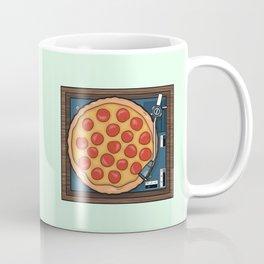 Pizza Record Player Coffee Mug