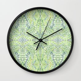 """And Then Again, "" in Green Multicolor Wall Clock"