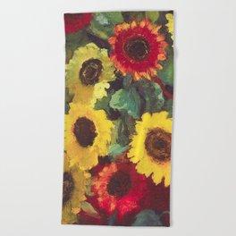Sunflowers by Emil Nolde Beach Towel