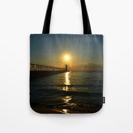 Manistee at Sundown Tote Bag