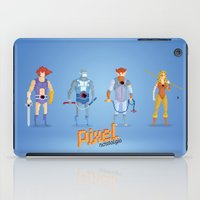 thundercats iPad Cases featuring Thundercats - Pixel Nostalgia  by Boo! Studio