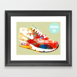 AIRMAX 90 (Part of the 'Oh, I'm A SNEAKERHEAD' series Framed Art Print