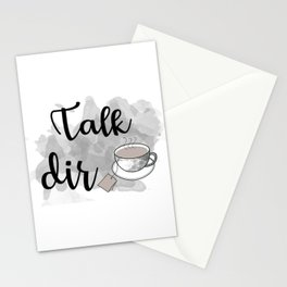 Talk DirTea Stationery Cards