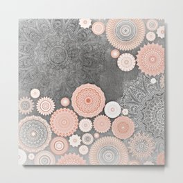 FESTIVAL FLOW BLUSH SUNSHINE Metal Print