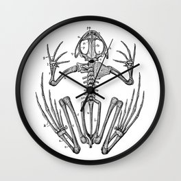 Frog skeleton Wall Clock