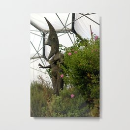 Moon Head Metal Print