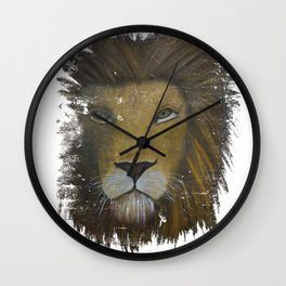 Distressed Lion Wall Clock