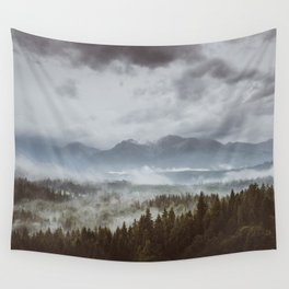 Misty mountains - Landscape and Nature Photography Wall Tapestry