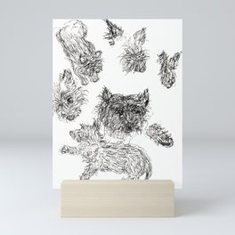 Scottish Terrier - Line Drawing Mini Art Print