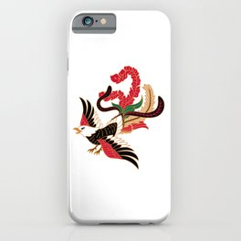 Batik exotic bird iPhone Case