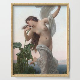 Dawn by William Adolphe Bouguereau (Nude Art) Serving Tray