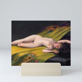 "Luis Ricardo Falero ""Reclining Nude"" Mini Art Print"