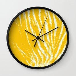 Tiger print Yellow Wall Clock
