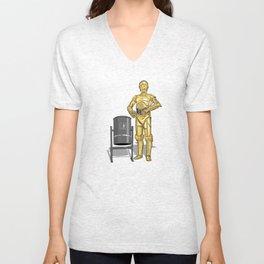 C3PO & Trash Unisex V-Neck