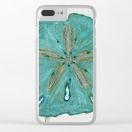Sand Dollars Ocean Colors Clear iPhone Case