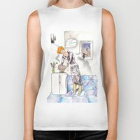 chef Biker Tanks featuring petit chef by bgallery