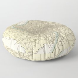 Vintage Map of Rome Italy (1901) Floor Pillow