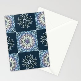 handdrawn abstract winter pattern Stationery Cards