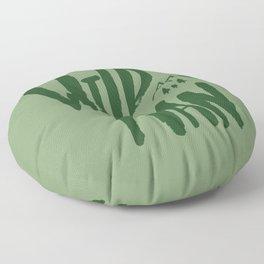 Wild Man x Green Floor Pillow