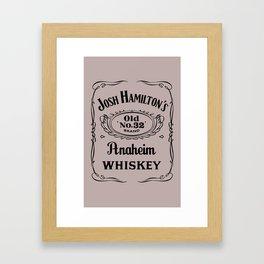 Josh Hamilton New Whiskey Brand   Framed Art Print