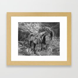 Storm Framed Art Print