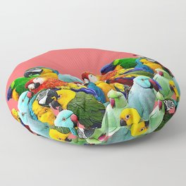 watermelon interior parrots design Floor Pillow