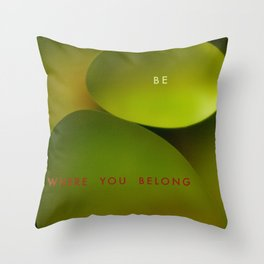 Belong Throw Pillow