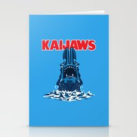 pacific rim Stationery Cards featuring KaiJaws (Pacific Rim/Jaws) by Tabner's
