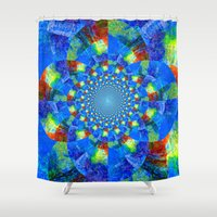 kaleidoscope Shower Curtains featuring Kaleidoscope  by haroulita